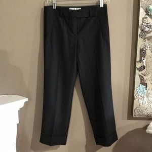 Trina Turk Charcoal Cuffed Ankle Length Trousers